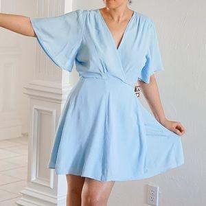 Public Desire Blue Wrap Dress